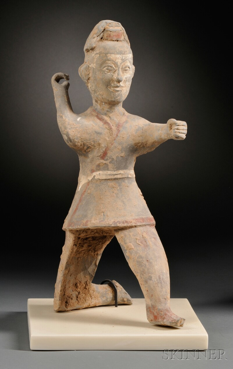 Pottery Figure of an Archer