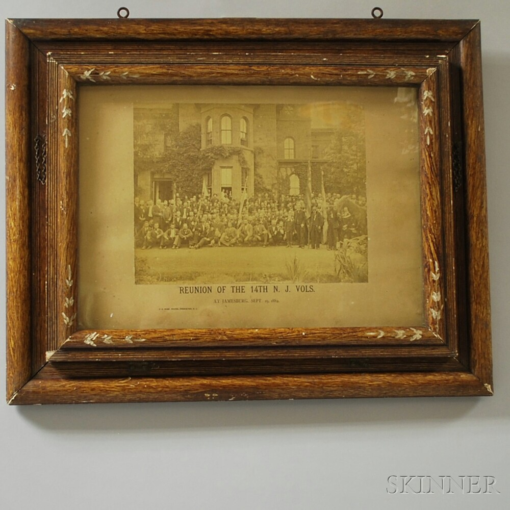 Framed Photograph of the Reunion of the 14th New Jersey Volunteer Infantry