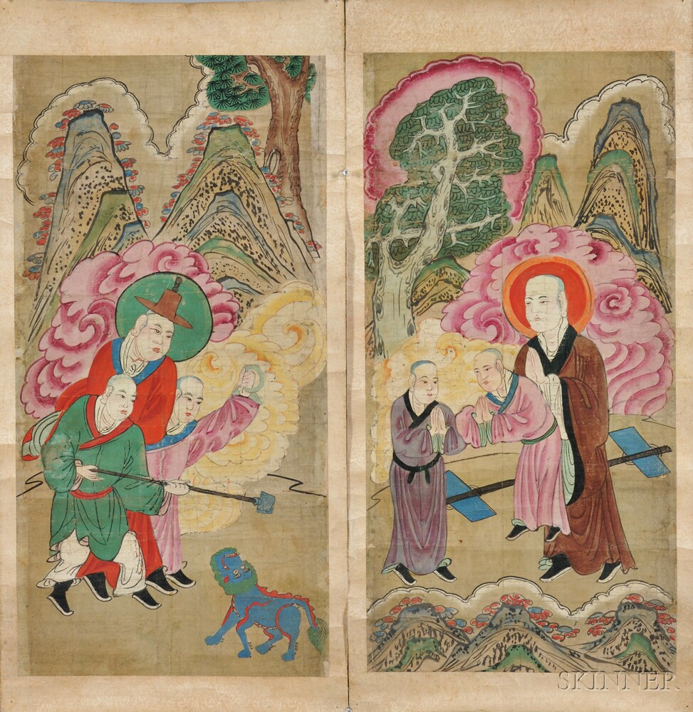 Two Scrolls of Daoist Paintings