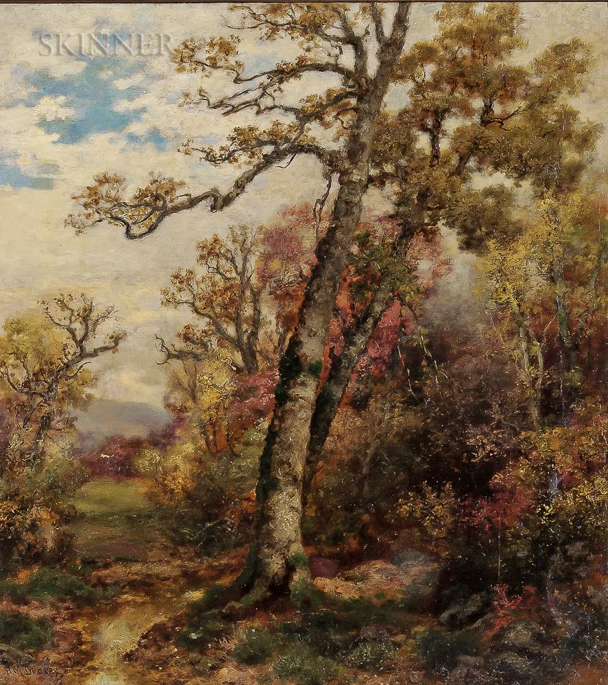 Robert Melvin Decker (American, 1847-1921)      Autumn Forest