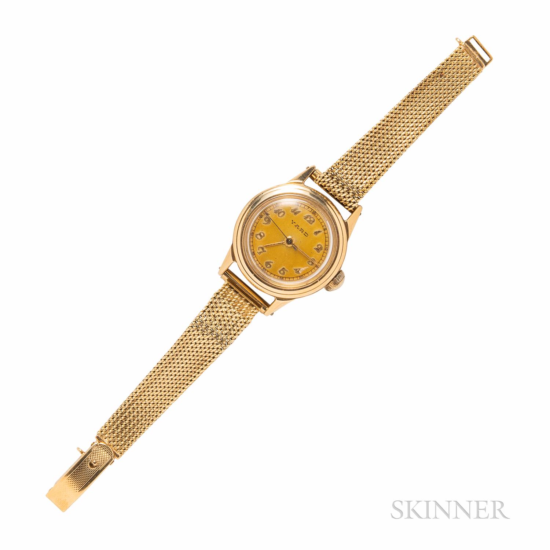 Movado 14kt Gold Wristwatch, Retailed by Raymond Yard