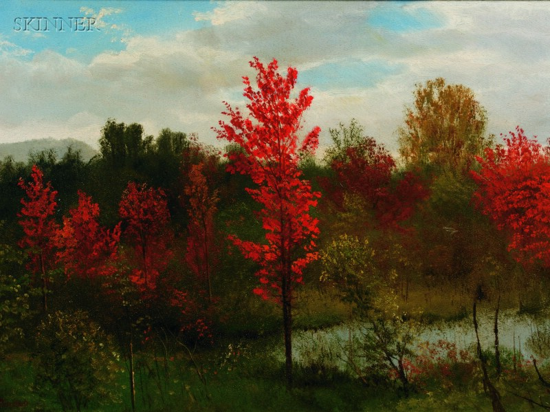 Albert Bierstadt (German/American, 1830-1902)      Autumn, Summit Woods, New Jersey