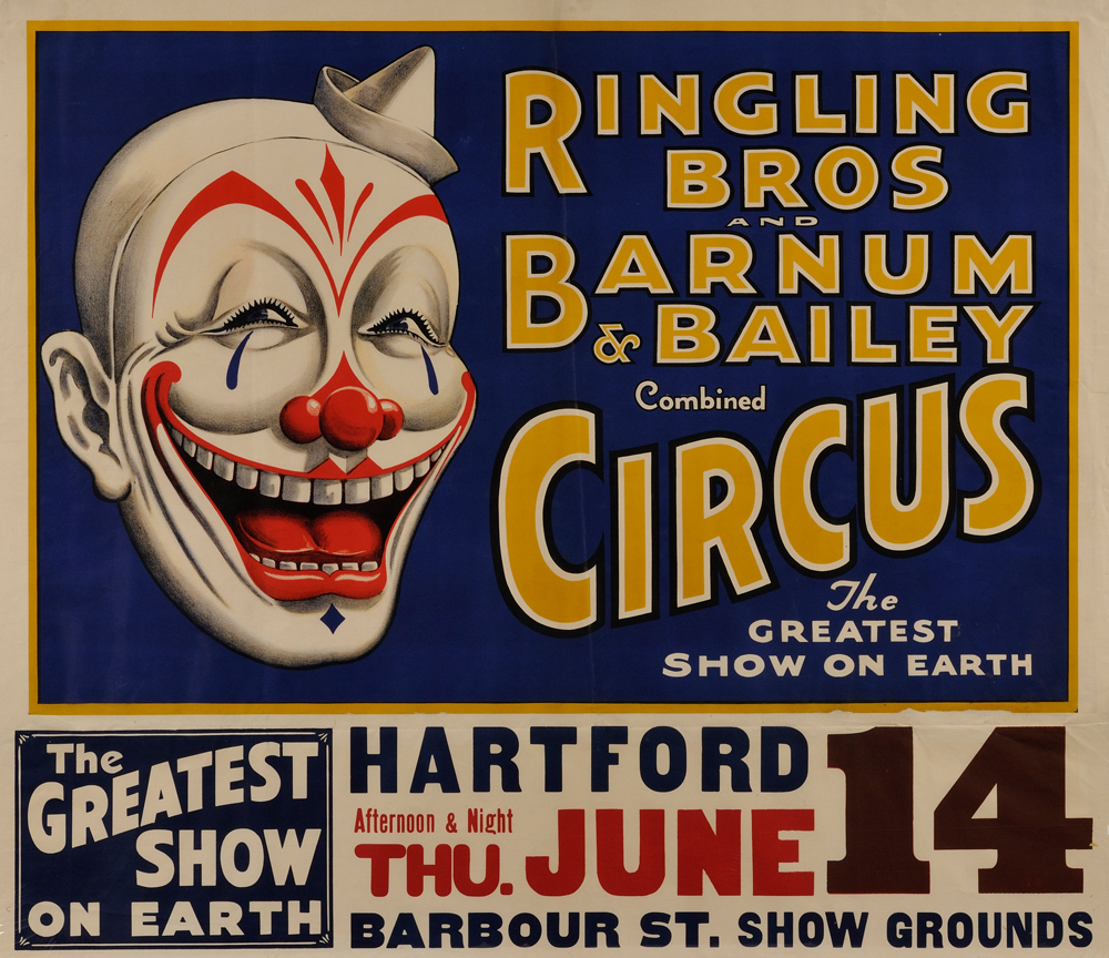 Ringling Bros. and Barnum & Bailey Circus Lithograph Poster