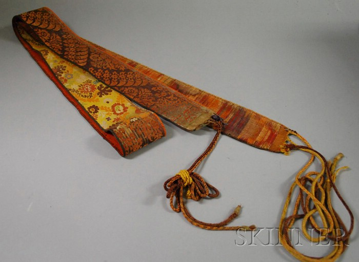 Jewish Cotton and Silk Wedding Sash
