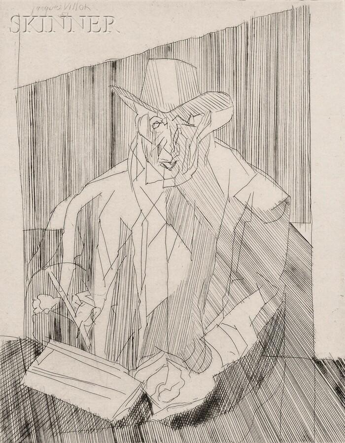 Jacques Villon (French, 1875-1963)      La Signature (Self Portrait)