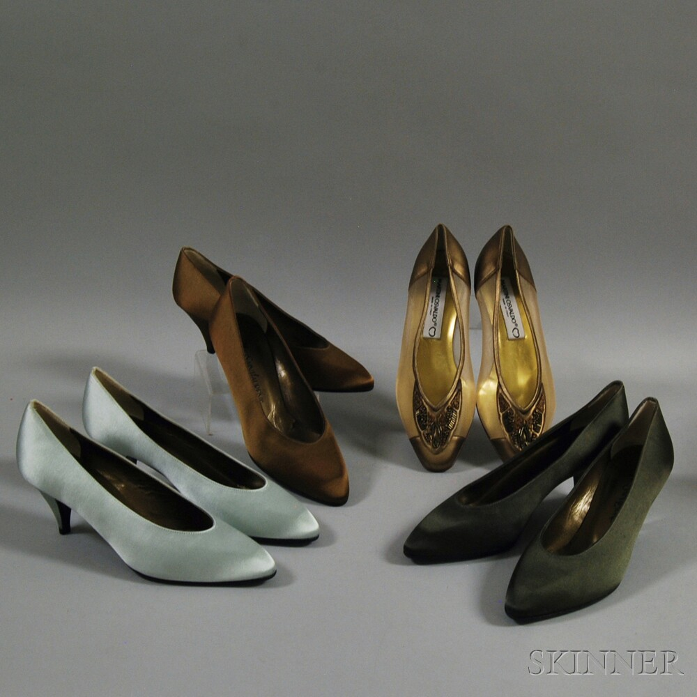 Four Pairs of Lady's Designer Shoes