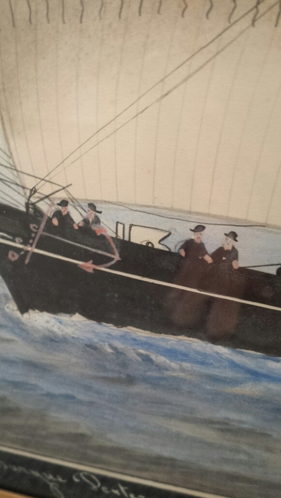 Italian School, Late 19th Century      Barque Dexterous of Littlehampton Owned by GG Robinson Entering Malta 1871.