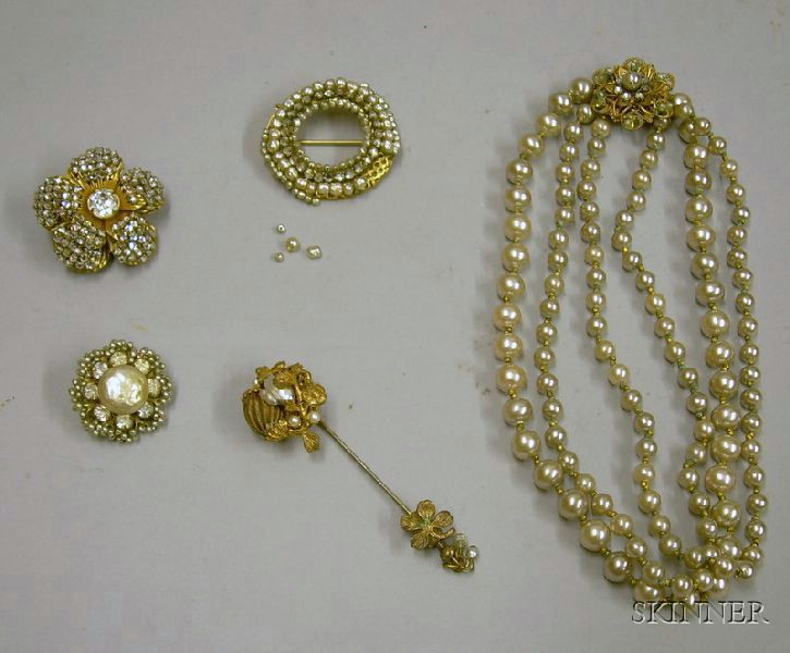 Group of Miriam Haskell Jewelry, 1950s