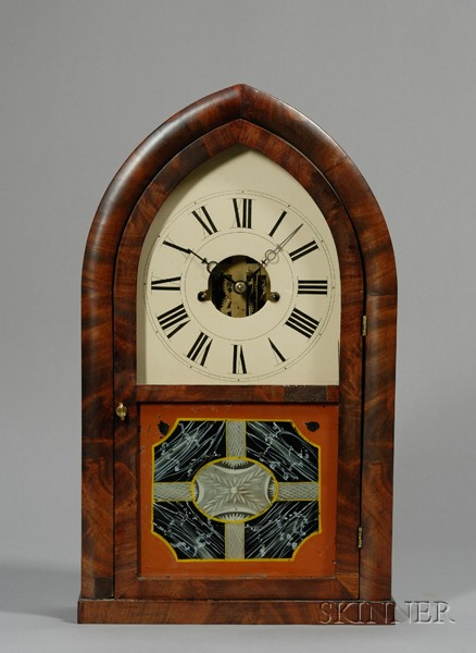 Oversized Mahogany Beehive Shelf Clock by Smith & Brother