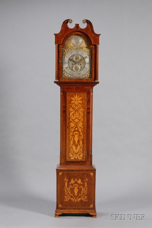 Scottish Georgian Inlaid Mahogany Tall Case Clock