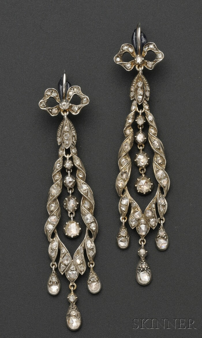 Antique Diamond Earpendants