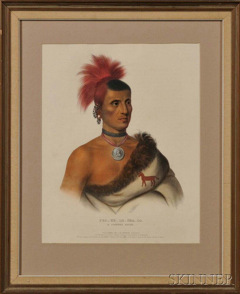 McKenney, Thomas Loraine (1785-1859) and James Hall (1793-1868) Four Portraits of Native American Indians.