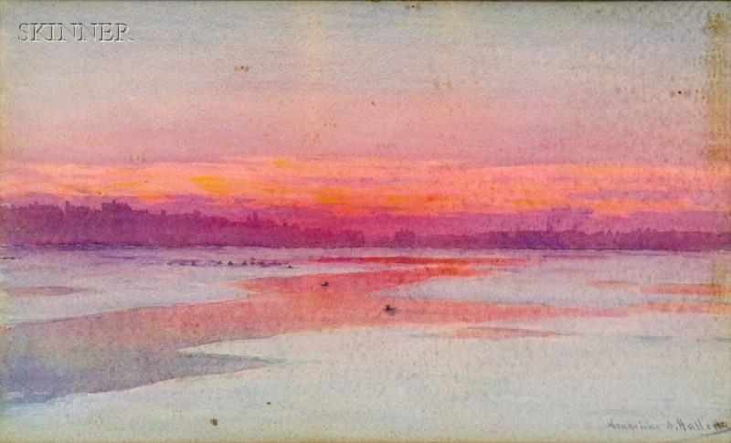 Hendricks A. Hallett (American, 1847-1921)      Winter Evening