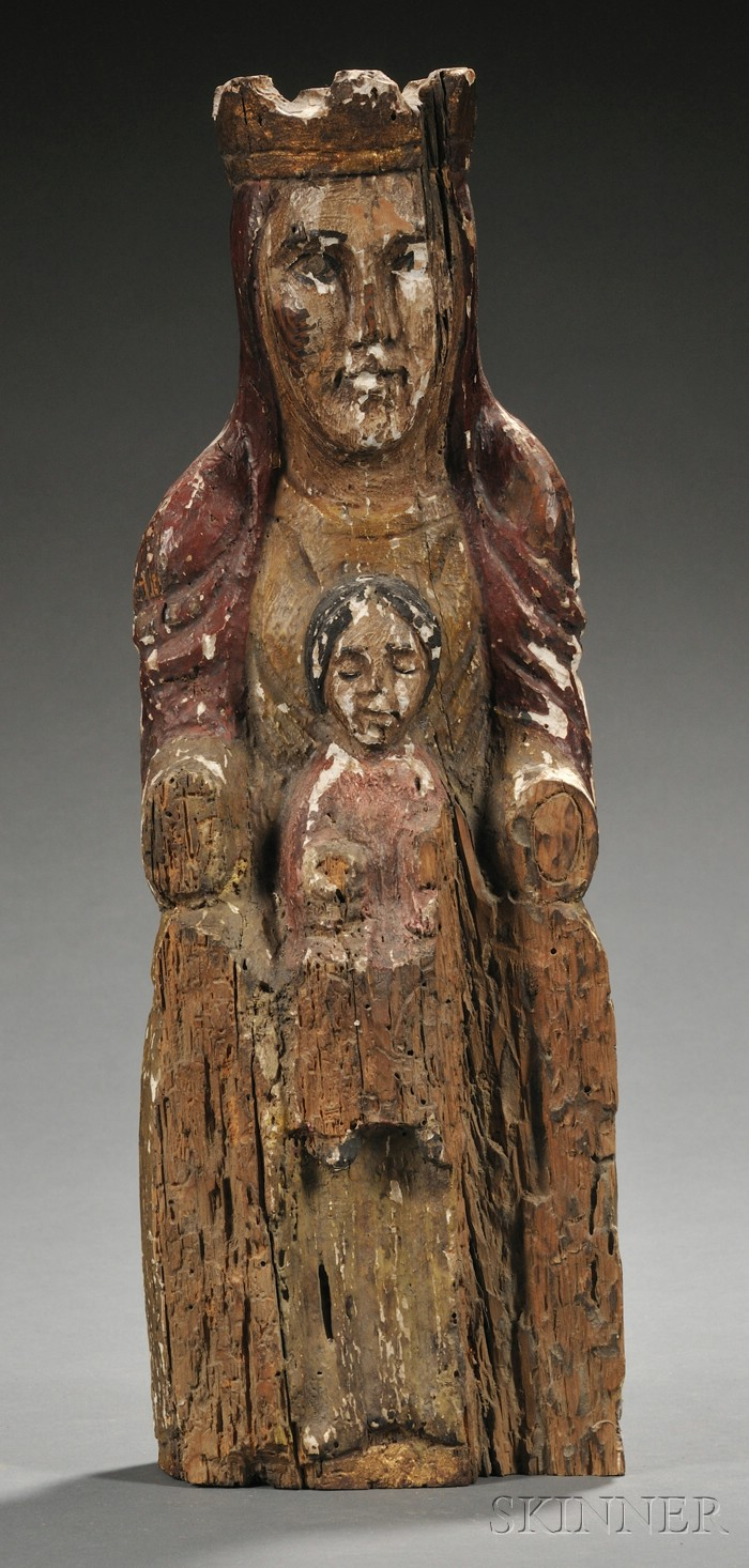 Polychrome and Giltwood Madonna and Child