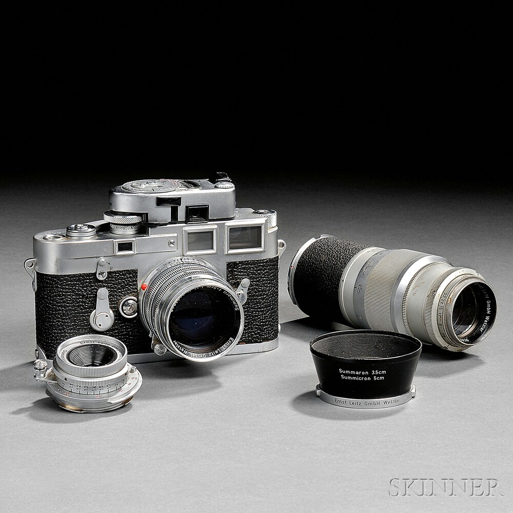 Leica M3 Double Stroke with Three Lenses