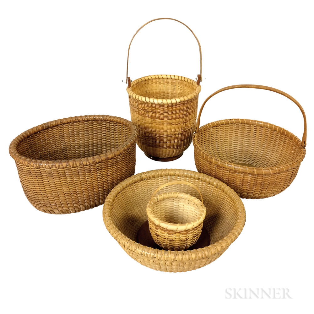 Five Contemporary Nantucket Baskets