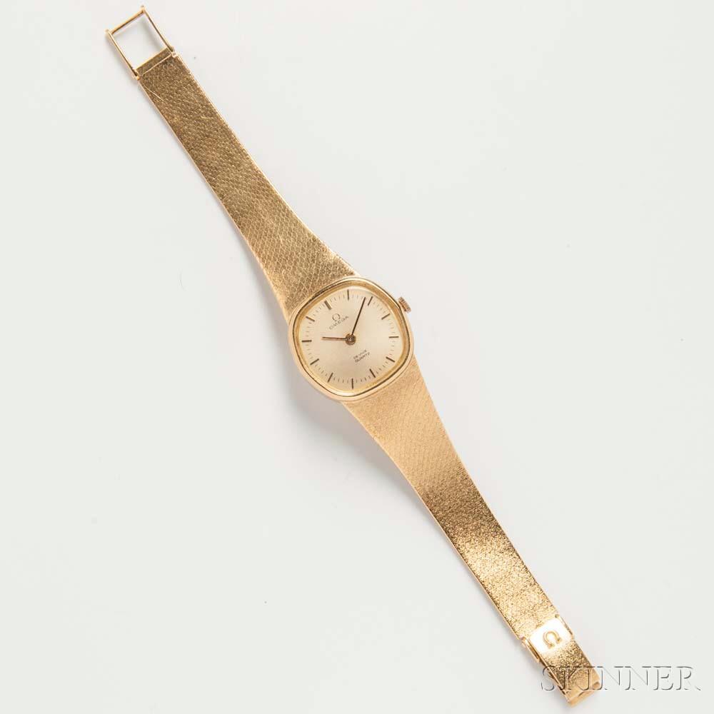 """18kt Gold Omega """"De Ville"""" Lady's Wristwatch"""