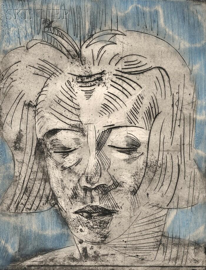 Walter Gramatté (German, 1897-1929)      Müdes Mädchen