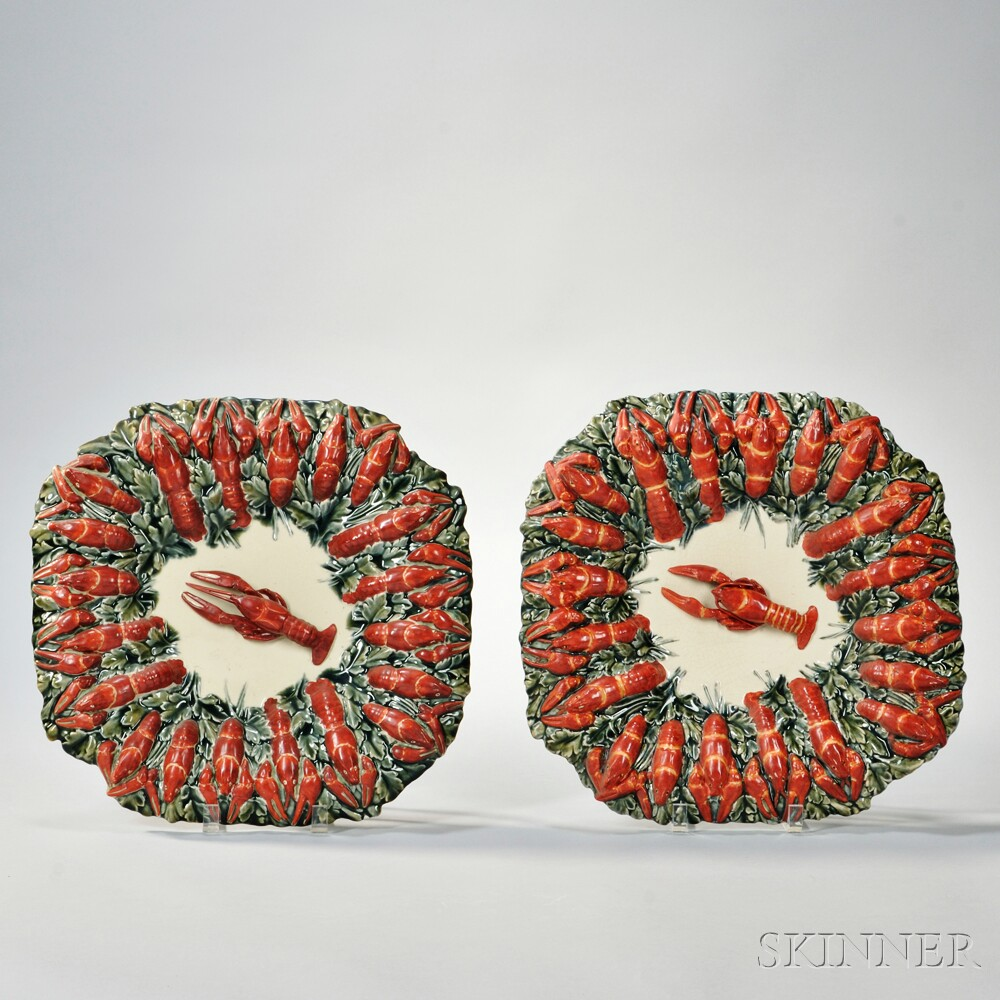 Pair of Longchamp Palissy Dishes