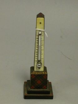 McPherson Tartanware Table Thermometer.