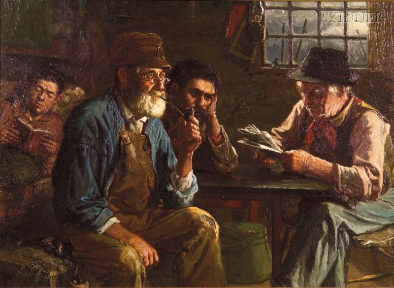 John Joseph Enneking (American, 1841-1916)      A Pensive Moment