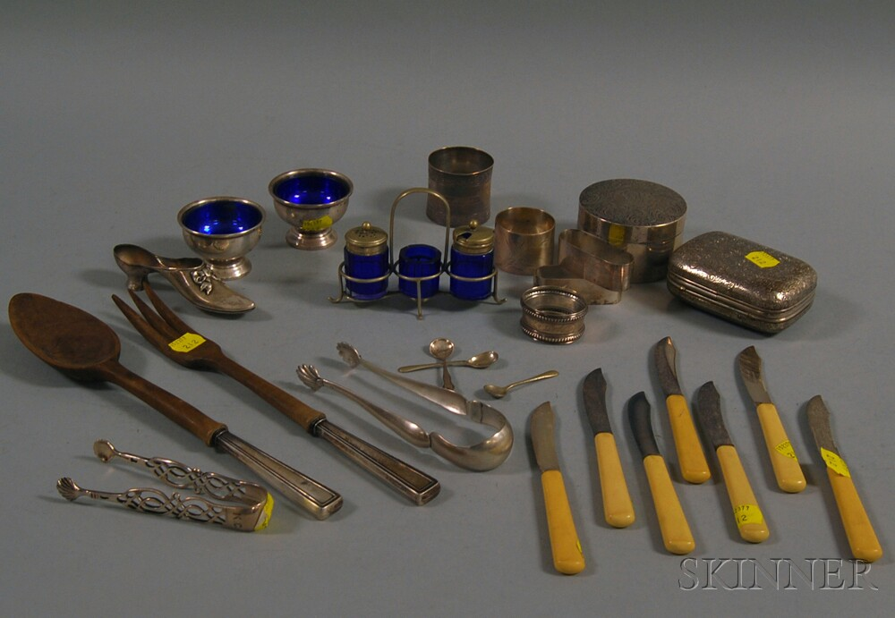 Assorted Group of Small Mostly Sterling Silver Tableware and...