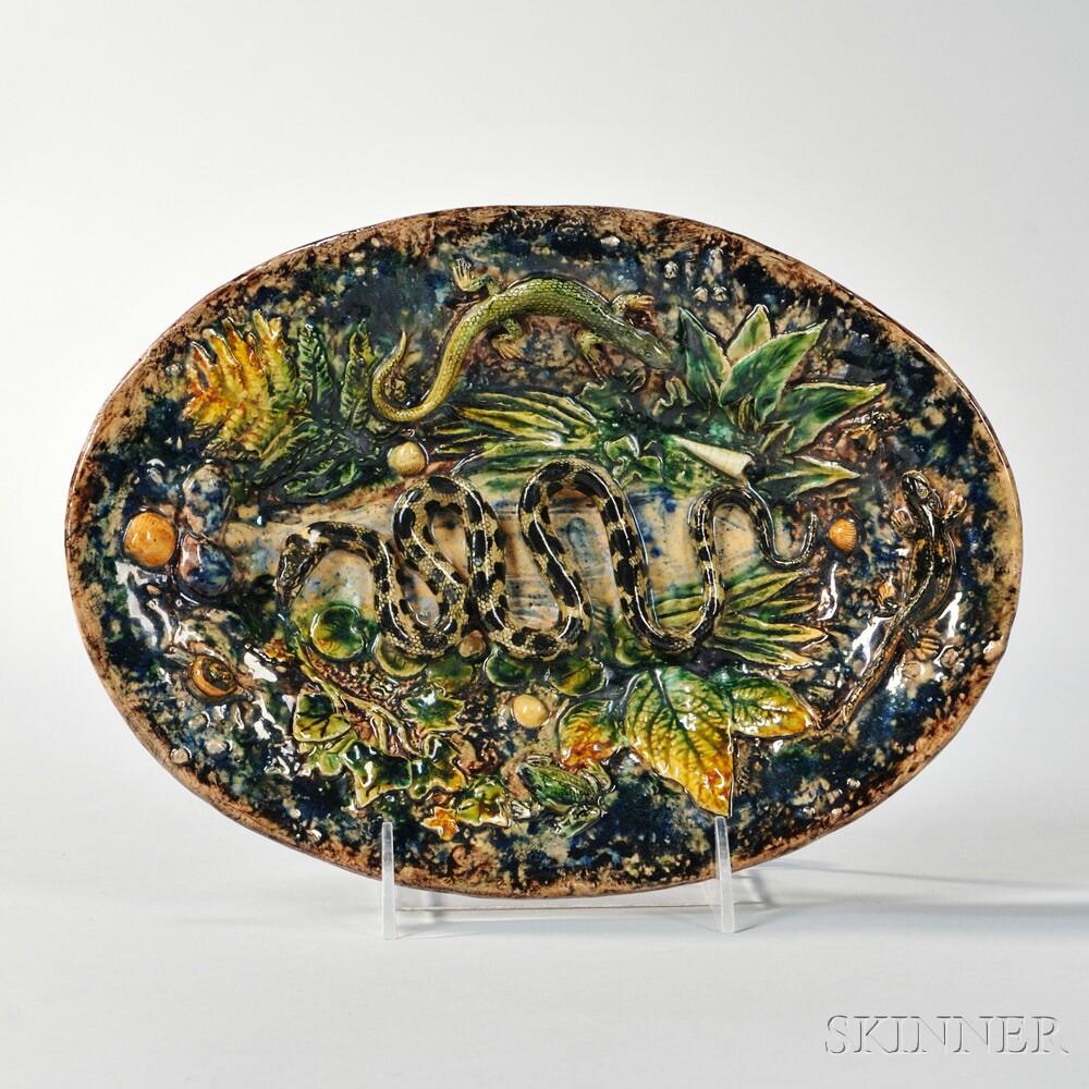 Hentry Destreguil Palissy Platter