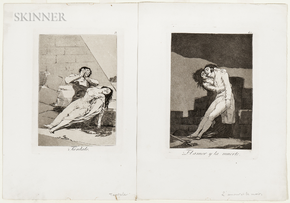 Francisco José de Goya y Lucientes (Spanish, 1746-1828)      Two Plates from Los Caprichos