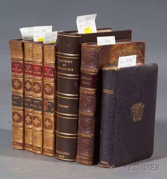 (Decorative Bindings, Literature and Natural History), Seven Titles in Ten Volumes