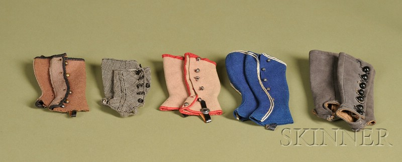 Five Pairs of Doll Spats