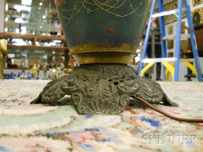 Teplitz-style Art Nouveau Porcelain Vase