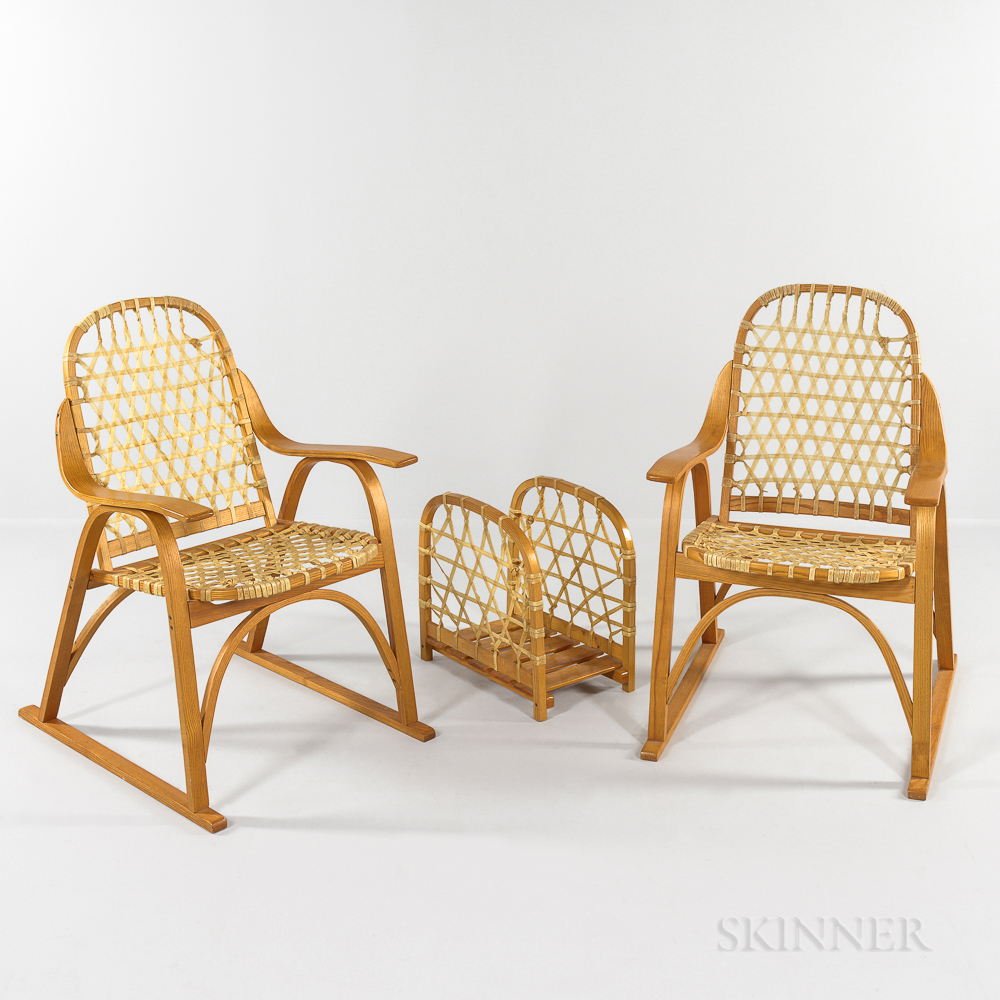 Two SnoCraft Chairs and Magazine Rack