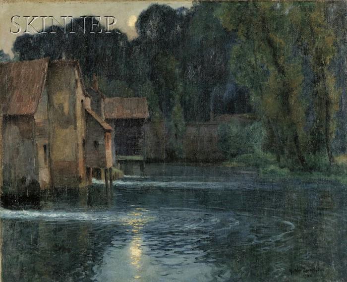 Harry Van der Weyden (American, 1868-1952)      The Shimmering Pond