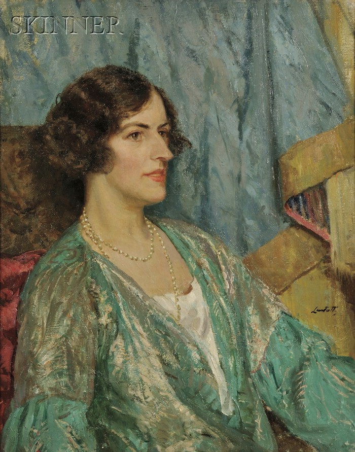 Edward Barnard Lintott (American, 1875-1951)      Portrait of a Woman, Likely Marie (Walther) Sterner Lintott, the Artist's Wife