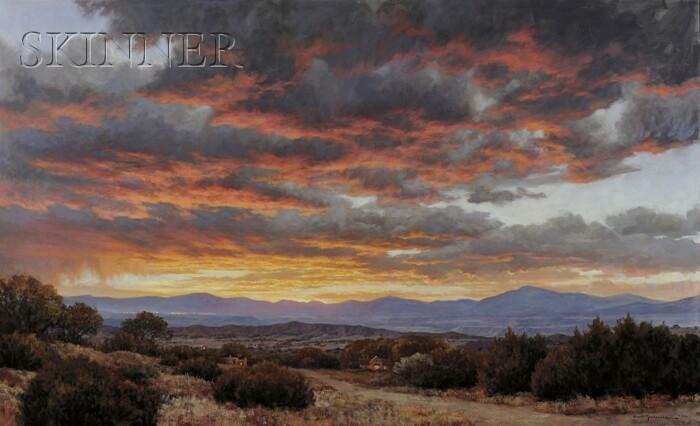 Grant MacDonald (American, b. 1944)      Desert Landscape at Sunset