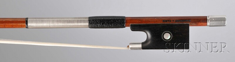 French Silver-mounted Violin Bow, Eugene Sartory, Paris, c. 1920