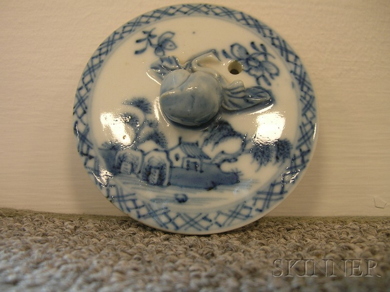 Nanking Blue and White Porcelain Teapot and Cover