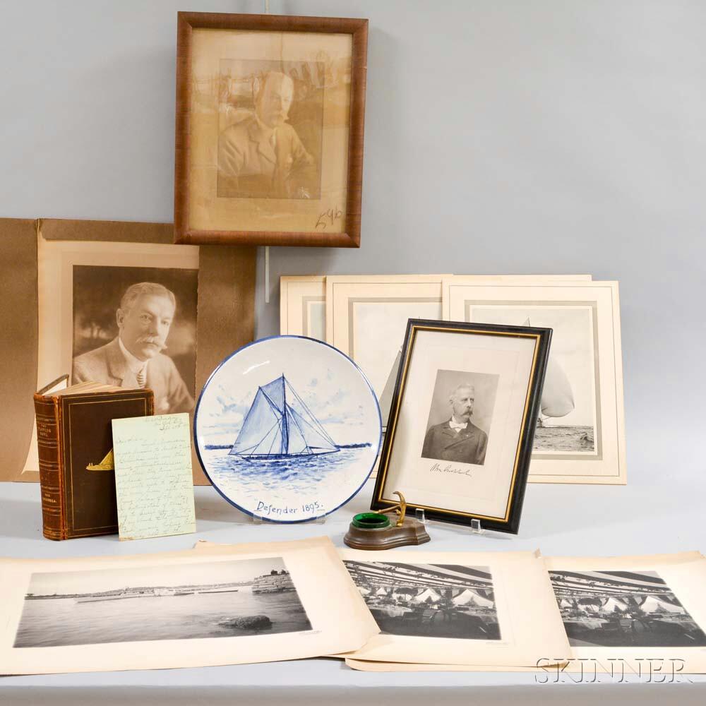 Group of Yachting Ephemera and Decorative Items
