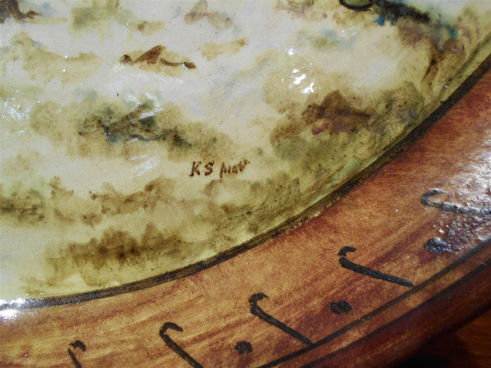 Doulton Lambeth Hand-painted Earthenware Tray