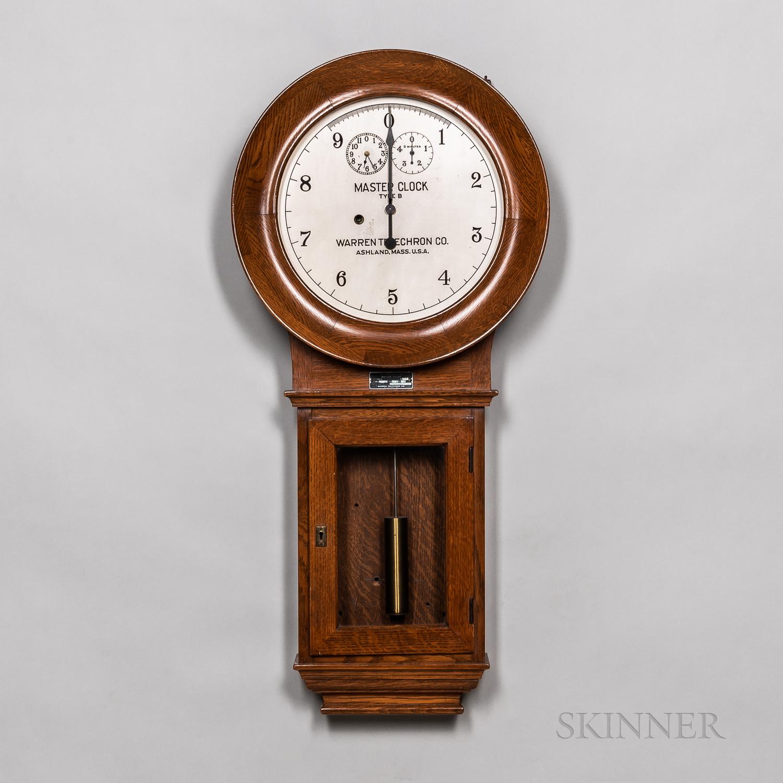 Warren Telechron Co. Master Clock Type B
