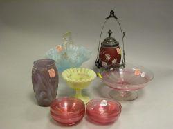 Ten Pieces of Victorian Art Glass