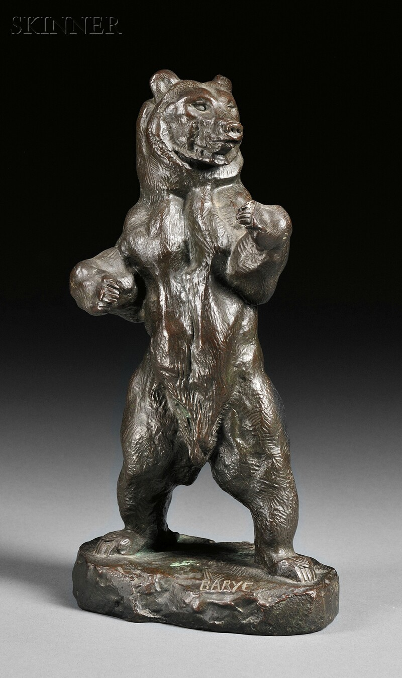 Antoine-Louis Barye (French, 1795-1875)      Ours debout No. 2 [Standing Bear No. 2]