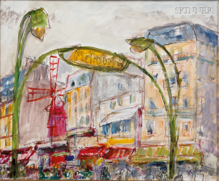 Jacques Kravetz (French, b. 1926/7)      Moulin Rouge