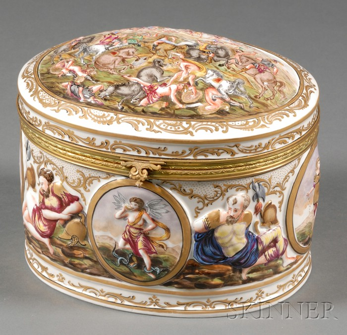 Capo di Monte Porcelain Box