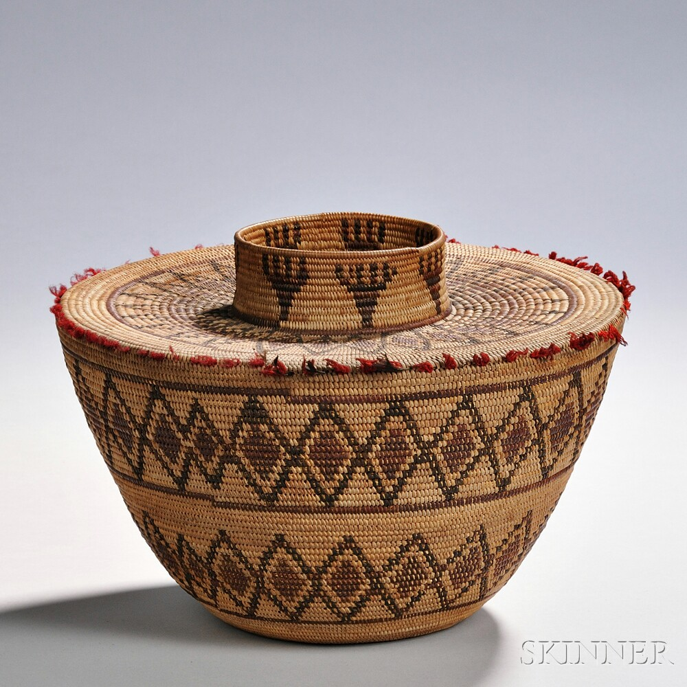 Yokuts Polychrome Bottleneck Basket