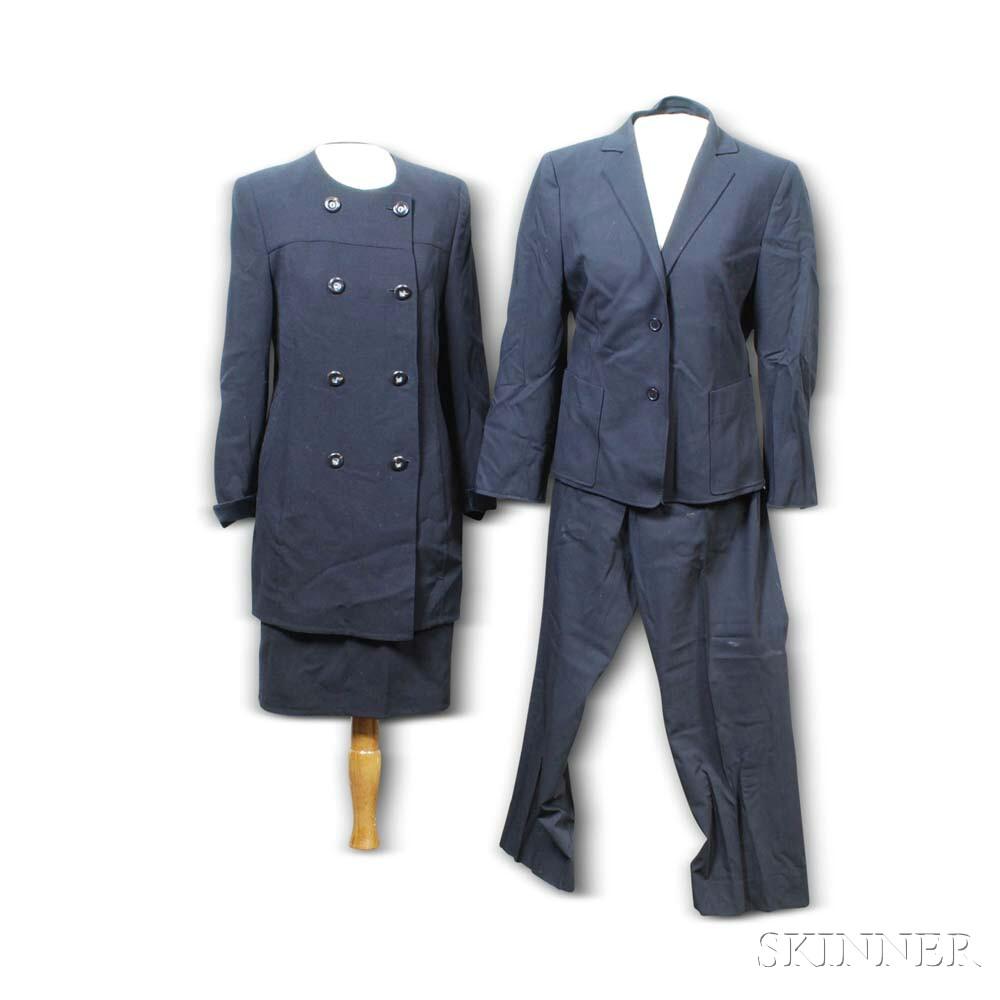 Two Black Akris Women's Suits