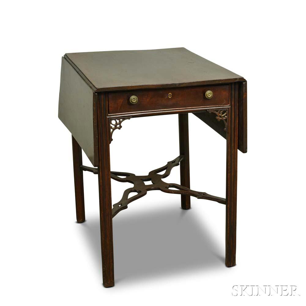 George III Carved Mahogany Pembroke Table
