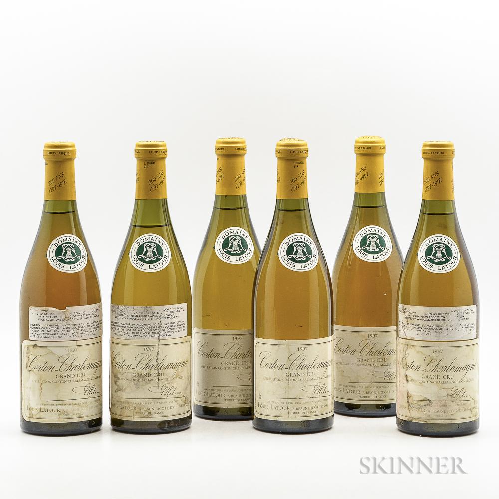 Louis Latour Corton Charlemagne 1997, 6 bottles