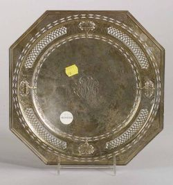 Reticulated Sterling Cake Plate