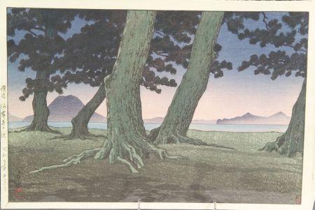 Hasui: Shore of a Temple, Sanuki Province
